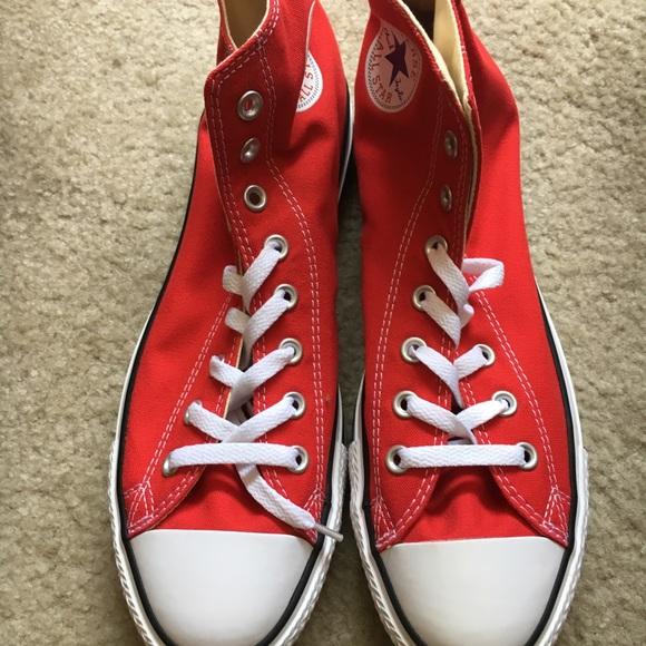6cb130b69e283 Converse Chuck Taylor 10.5 All Star Hi Red NWOB